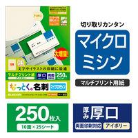 エレコム 名刺/厚口/250枚/アイボリー MT-JMN2IVZ 1セット(3個) (直送品)