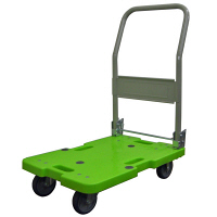 樹脂軽量運搬車 120kg 緑 LSK-211G (直送品)