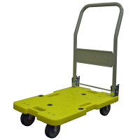 樹脂軽量運搬車 120kg 黄 LSK-211Y (直送品)