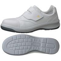 JIS規格 静電安全靴 クリーンルーム用 スニーカータイプ GCR596 フルCAP 静電 小 22.0cm ホワイト 1204153103(直送品)