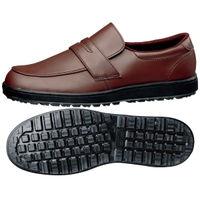 ミドリ安全 作業靴 耐滑 ローファータイプ H230D 先芯なし 24.5cm ブラウン 1足 2125062408(直送品)