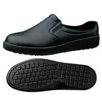 ミドリ安全 作業靴 耐滑 スリッポン H731N 先芯なし 23.0cm ブラック 1足 2125084505(直送品)