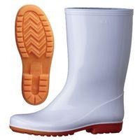 ミドリ安全 作業長靴 W2100 先芯なし 31.0cm ホワイト 1足 2135000619(直送品)