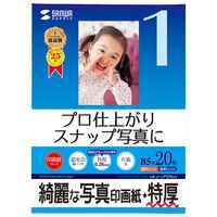 サンワサプライ インクジェット写真印画紙・特厚 JP-EP2NB5 3個 (直送品)