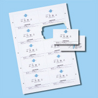 サンワサプライ インクジェットまわりがきれいな名刺カード・特厚 JP-MCC04 3個 (直送品)