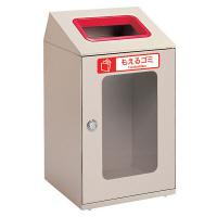 テラモト 屋内用ゴミ箱 ニートSTFミエル もえるゴミ用 80L 赤 (直送品)
