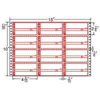 東洋印刷 ナナフォーム タックフォームラベル荷札タイプ 白 12面 1箱 M15CP(直送品)