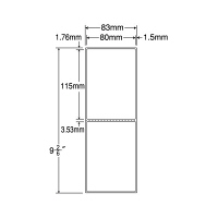 東洋印刷 ナナPD・SCMラベル PDラベル 白 連帳 2面 1箱 TMR3CE(直送品)