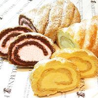 大阪 パティスリールベンス プレミアムロールケーキ チョコ&苺・カスタード 2種セット (直送品)