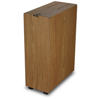 バスク 木目調キッチンペール 45L ブラウン (直送品)