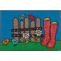 wash+dry薄型で丈夫な洗える玄関マット Happy Boots 50×75cm H009A 1枚 クリーンテックス・ジャパン (直送品)