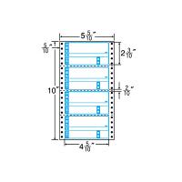 東洋印刷 ナナフォーム タックフォームラベル荷札タイプ 白 4面 1箱 MM5WA(直送品)