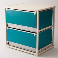 スタックスト-(stacksto) trunk2(トランク2) ブルー 引き出し2段 (直送品)