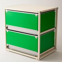 スタックスト-(stacksto) trunk2(トランク2) グリーン 引き出し2段 (直送品)