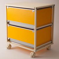 スタックスト-(stacksto) trunk2(トランク2) イエロー 引き出し2段 キャスタータイプ (直送品)