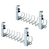 Garage(ガラージ) 配線整理 ワイヤーケーブルトレー YY-04DCT銀(2個セット) (直送品)