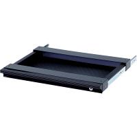 Garage(ガラージ) パソコンデスク用 A3サイズトレ-引出し 鍵付き GF-A3TH-K 黒 ブラック (直送品)