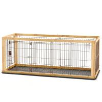 ペット用品 木製スライドペットサークル レギュラー N 小型犬用 593431 1台 リッチェル (直送品)