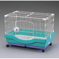 小動物快適ケージ パステルグリーン RU-800 1台 アイリスオーヤマ (直送品)