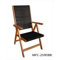 ガーデニング用品 YAMAZEN Gardenmaster フォールディングガーデンチェア ナチュラル/ブラック MFC-259D(BK 1台 (直送品)