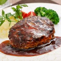 ラ・ベットラ・ダ・オチアイ 落合務監修 牛肉100%のハンバーグと黒トリュフソース 6個セット (直送品)