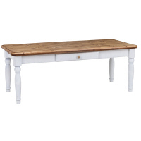 Yoshikei (吉桂) エクリール リビングテーブル ナチュラル/ホワイト 幅1200×奥行500×高さ450mm 1台 (直送品)