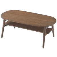 Yoshikei (吉桂) CSリビングテーブル オーバル型 ブラウン 幅1000×奥行500×高さ380mm 1台 (直送品)