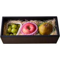 【生産者限定】山形県産 シャイン・大玉りんご・ラフランス 贅沢フルーツ3種セット (直送品)【予約販売】