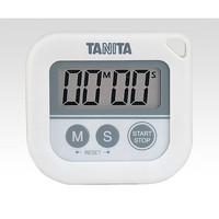 タニタ 丸洗いタイマー(100分計) ホワイト TD-376-WH 1セット(2個) 1-6417-01 (直送品)