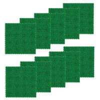 テラモト 人工芝 ユニットターフα 600×600 グリーン (1箱10枚入) (直送品)