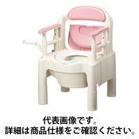 """アロン化成 安寿 ポータブルトイレ FX-CP """"ちびくまくん"""" さくら 1台 533-335 (直送品)"""