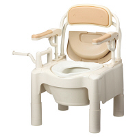 アロン化成 安寿 ポータブルトイレ FX-CP はね上げ 暖房・快適脱臭 534-540 (直送品)
