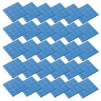 テラモト タッチマットII 300×300mm ブルー (1箱30枚入) (直送品)