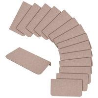 サンコー 折り曲げ付階段マット ベージュ 1セット(単色15枚入) (直送品)