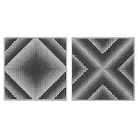サンコー バリアフリータイルマット グラデーション36枚組 グレー 1セット(2柄で36枚入) (直送品)