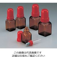 マルエム スポイド瓶(角型ガラス製) 60mL 褐色 1セット(10本) 5-135-04 (直送品)