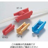 アズワン ローラークランプ 6φ イエロー KT-6 1セット(10個) 6-655-02 (直送品)
