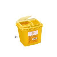アズワン ディスポ針ボックス 黄色 5L 1個 1セット(10個) 8-7221-03(直送品)