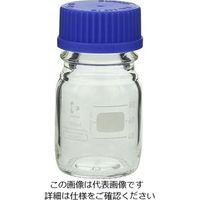 アズワン ねじ口瓶丸型白(デュラン(R)) 青キャップ付 100mL 1セット(5個:1個×5本) 2-077-02 (直送品)