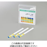 アズワン pH試験紙 14.0 スティック pH1-14 1セット(500枚:100枚×5箱) 1-1267-02 (直送品)