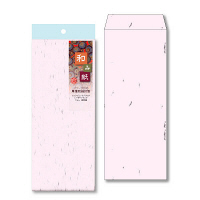 和み紙封筒 長40 さくら 10枚1セット(10枚入X10)(直送品)