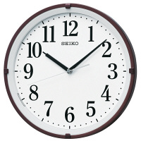SEIKO(セイコークロック) 自動点灯電波掛時計 [電波 掛け 夜光 時計] KX205B 1個 (直送品)