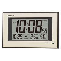 SEIKO(セイコークロック) 自動点灯電波デジタル掛時計 [電波 掛け カレンダー 温度・湿度 夜光 SQ438G 1個 (直送品)