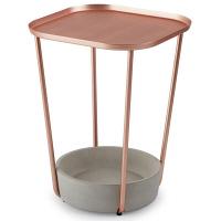UMBRA(アンブラ) タバロ サイドテーブル コパー 直径381×高さ514mm 1台 (直送品)