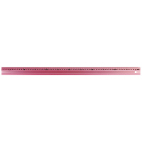 シンワ測定 アルミ直尺 アル助 ペールピンク 60cm 65435 1箱(20本入) (直送品)