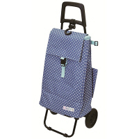 cocoro ショッピングカート ドット ブルー/ライトブルー レップ 424537BL レップ 1個 (直送品)