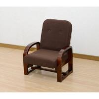 YAMAZEN 立ち上がりラクラク リクライニング座椅子 幅545×奥行495×高さ655mm ダークブラウン 1脚 (直送品)
