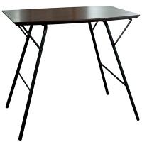 ルネセイコウ トラスバレルテーブル ダークブラウン/ブラック 本体:幅770×奥行500×高さ680mm 1脚 (直送品)