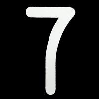 新富士バーナー ロードマーキング用ナンバー L 「7」 RM-117 (直送品)