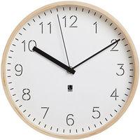 umbra(アンブラ) リムウッド ウォールクロック [クオーツ 掛け 時計] ホワイト 1個 (直送品)